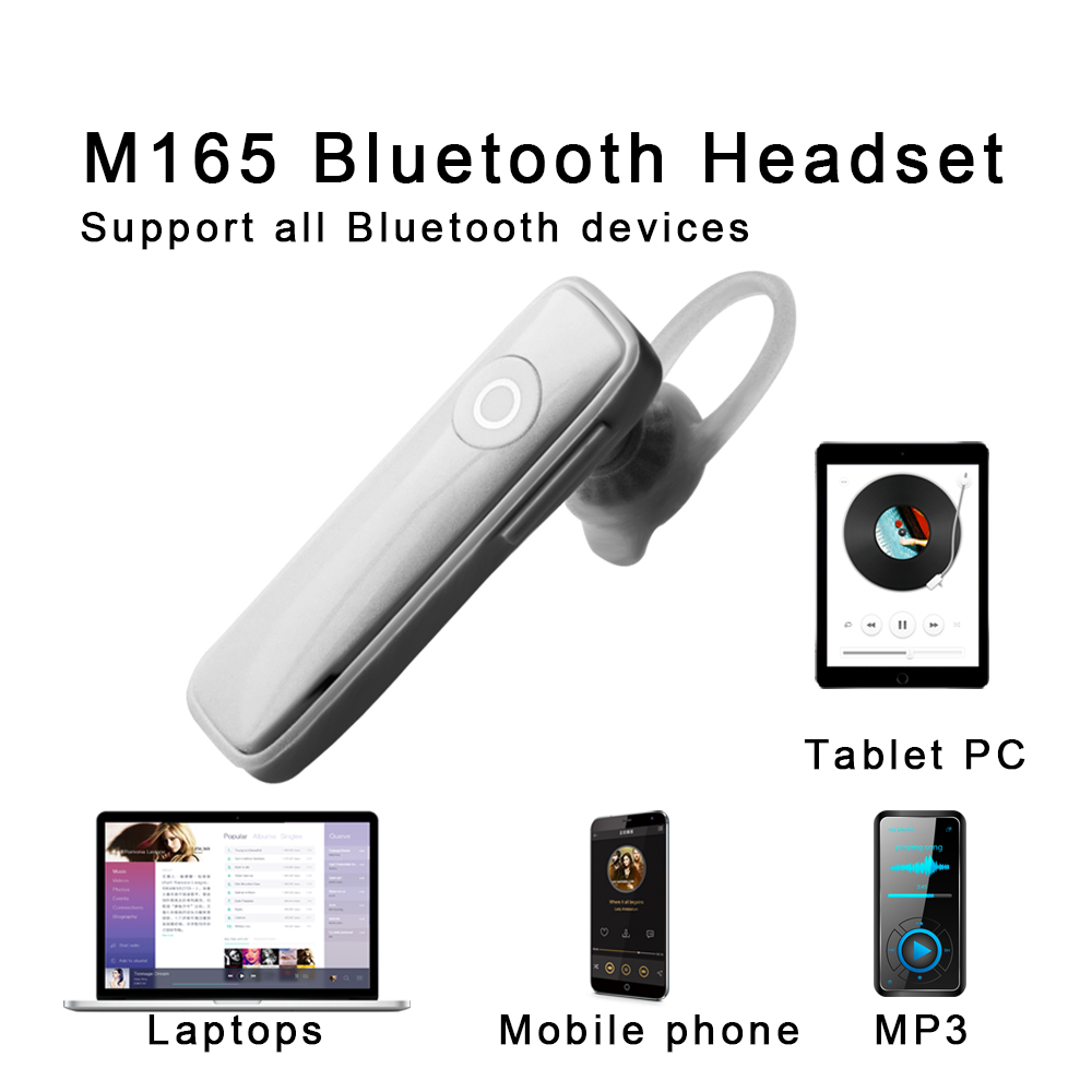 Wireless Bluetooth Earphone Headset M165 Mini Earbuds Noise Reduction Handfree Headphone Universal For iPhone Huawei Samsung