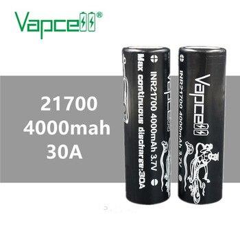 2 uds VAPCELL INR21700 4000mAh INR 21700 batería de litio 30 a herramienta eléctrica de alta potencia 3,7 V vs keeppower smoke IMR E-CIG batería