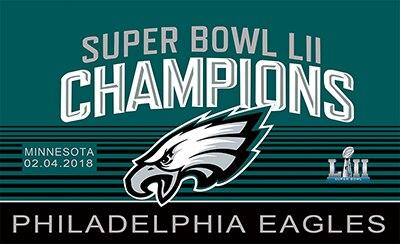 2018 Philadelphia Eagles Champions Bandiera 3x5FT