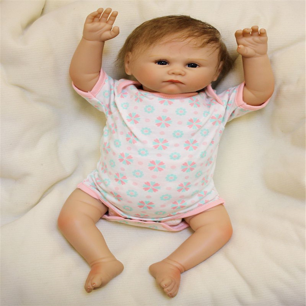 SanyDoll 20 inch 50 cm Silicone baby reborn dolls, Beautiful Lovely baby gift festival gifts for boys and girls birthday gifts