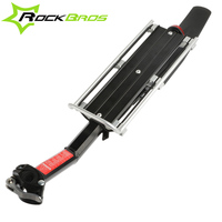ROCKBROS Bike Rear Rack +Fender Bicycle Carry Carrier with Mudguard Quick Release Shelf Max Load 25KG Disc brake V brake Luggage
