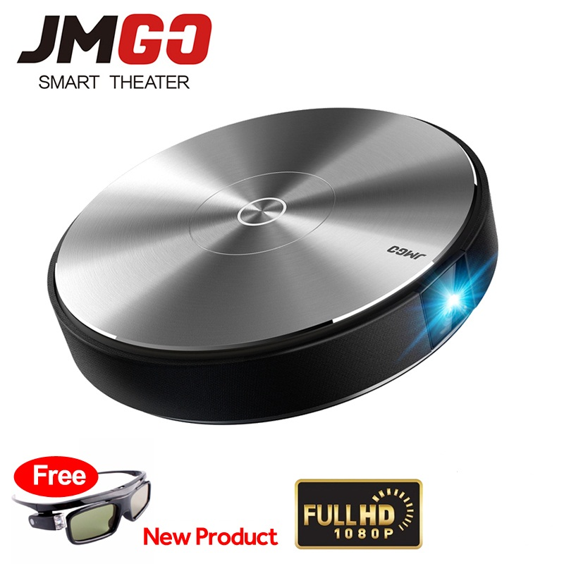 JmGO N7L Projetor 1980x1080 Smart Home Theater Support 3D 1080P 300 inch Bluetooth android Projector WIFI DLP Proyector Beamer цена