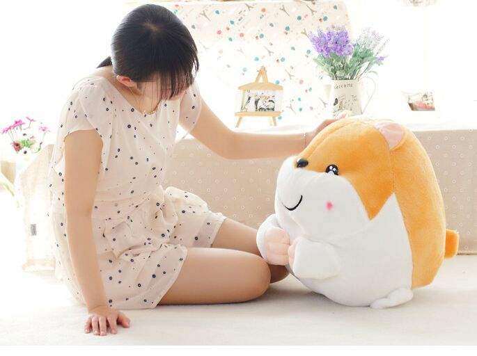 Stuffed toy large 40cm Hamtaro hamster plush toy soft throw pillow birthday gift w1870 large 40cm pink hamtaro hamster plush toy soft throw pillow christmas gift w1890