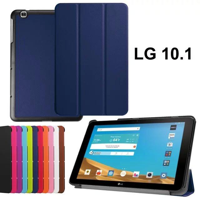 Для LG G Pad 2 10.1 V940 Планшетные Случаи Высокое Качество 3-Fold PU кожаный Чехол Чехол для lg gpad 2 II 10.1 V940 случае с бесплатным подарок