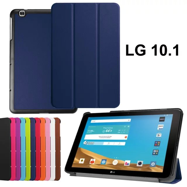 For LG G Pad 2 10.1 V940 Tablet Cases High Quality 3-Fold PU Leather Case Cover for lg gpad 2 II 10.1 V940 case with free gift