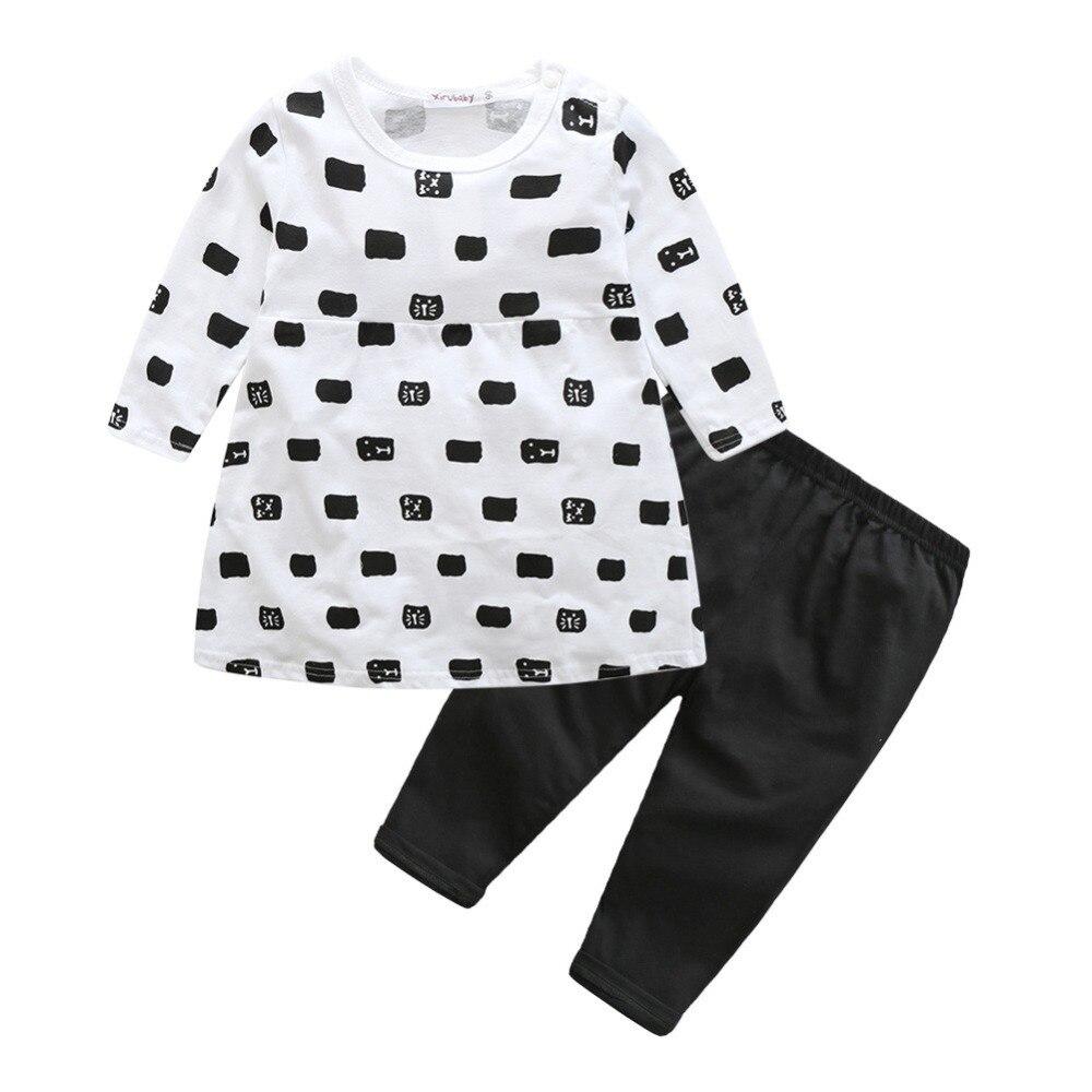 Fashion Cute Kids T shirt font b pants b font baby Clothes Sets Autumn Skirt Baby