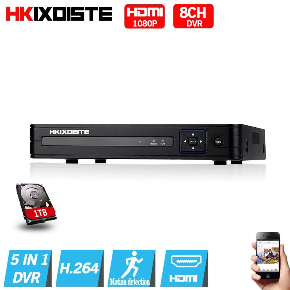 5 in 1 Security CCTV DVR 4CH 8CH AHD 1080N  H.264 Hybrid Video Recorder for AHD TVI CVI Analog IP Camera Onvif HDMI 1080P