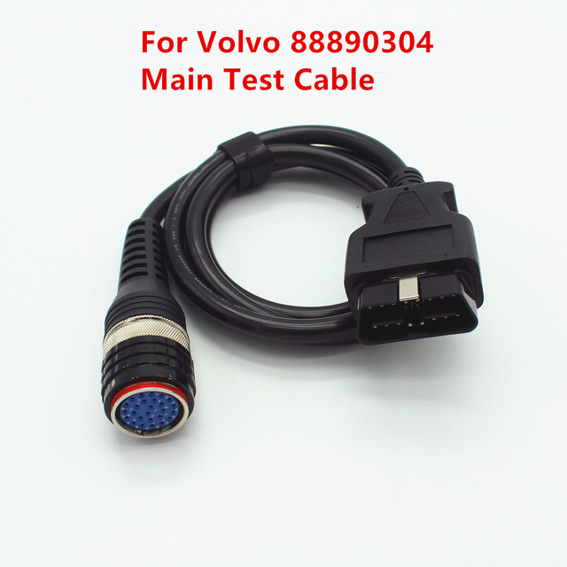 OBD2 principal Cable de diagnóstico para Volvo 88890304 interfaz principal Cable de prueba para Volvo Vocom 88890304 OBD-II Cable Vocom
