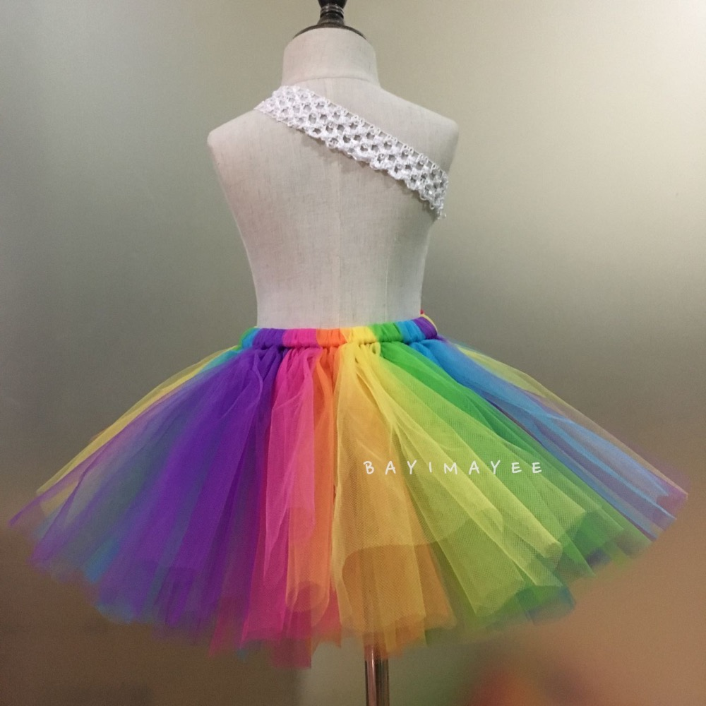 Faldas de tutú con arco iris para bebés Faldas de tul para ballet - Ropa de ninos - foto 4