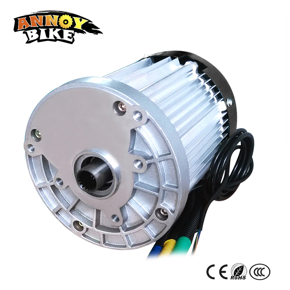 цена High Power Brushless Differential Speed DC Motor 60V 1200W Magnetic Brushless Electric For Tricycle Electric Vehicle Bike Moped
