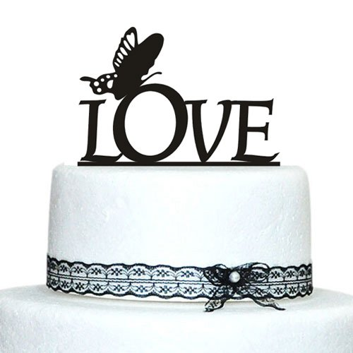 Acrylic Cake Topper, Love Wedding Cake Toppers With ...