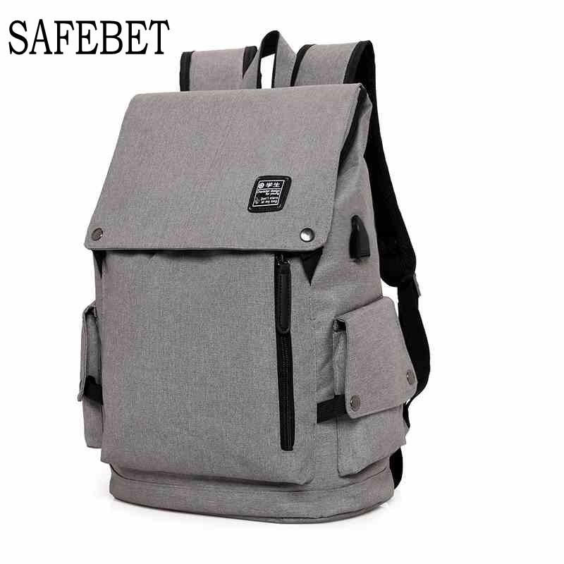 SAFEBET New 15 inch Laptop Backpack USB Charging Backpack Men Travel Multifunction Backpack Waterproof School Bag Male Mochila