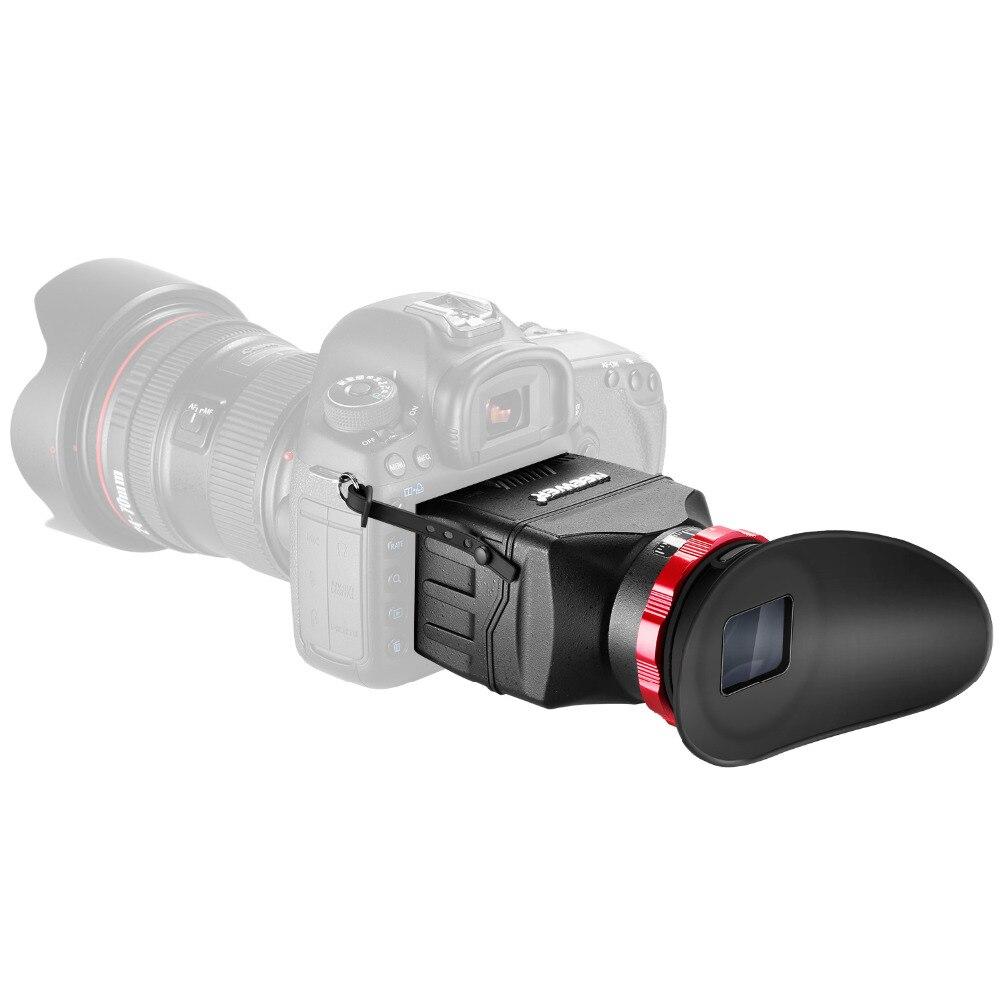 Neewer S7 3-en-1 Pro viseur optique comme protection d'écran pare-soleil capot et 3X grossissement viseur pour Canon 1DX