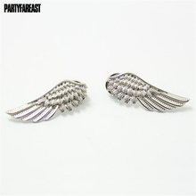 Hot Sale 1 Pair Fashion Angel Wings Brooch Women Collar Pin Brooches Gothic Badges Christmas Ornaments Jewelry Accessories Gifts