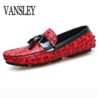 Men Boat Shoes 2018 New Summer Autumn Dress Casual Man Leather Shoes Male Gold Flats Loafers
