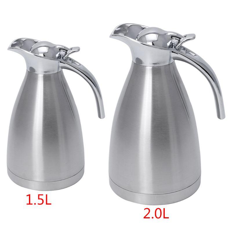1PC 1.5l/2.0L Stainless Steel Vacuum Insulation Pot Hot Water Kettle Thermo Jug US=1.5L/EU=2L1PC 1.5l/2.0L Stainless Steel Vacuum Insulation Pot Hot Water Kettle Thermo Jug US=1.5L/EU=2L