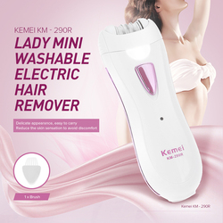 Kemei Professional Electric Epilator Women Rechargeable Depilation Mini Leg body Bikini Hair Removal Female Depilatory Tools New
