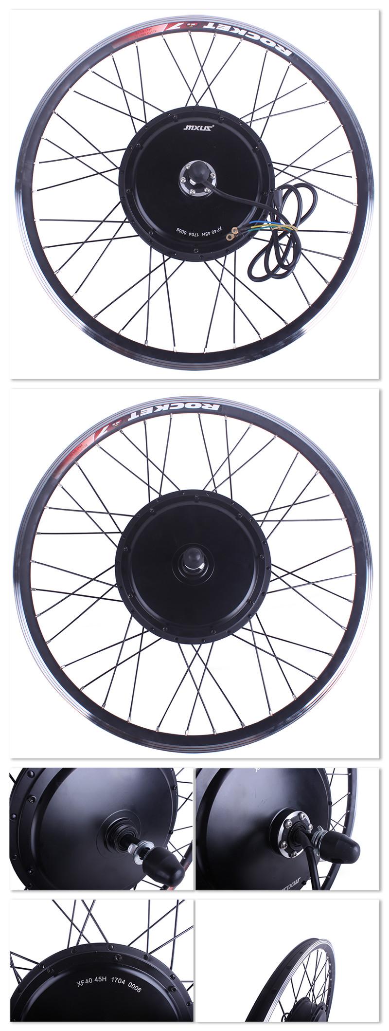 Sale Free Shipping 1500W E-bike Electric Bike Conversion kit Driect Drive Motor MXUS 48V 52V 13AH 17AH Hailong Battery LCD 10