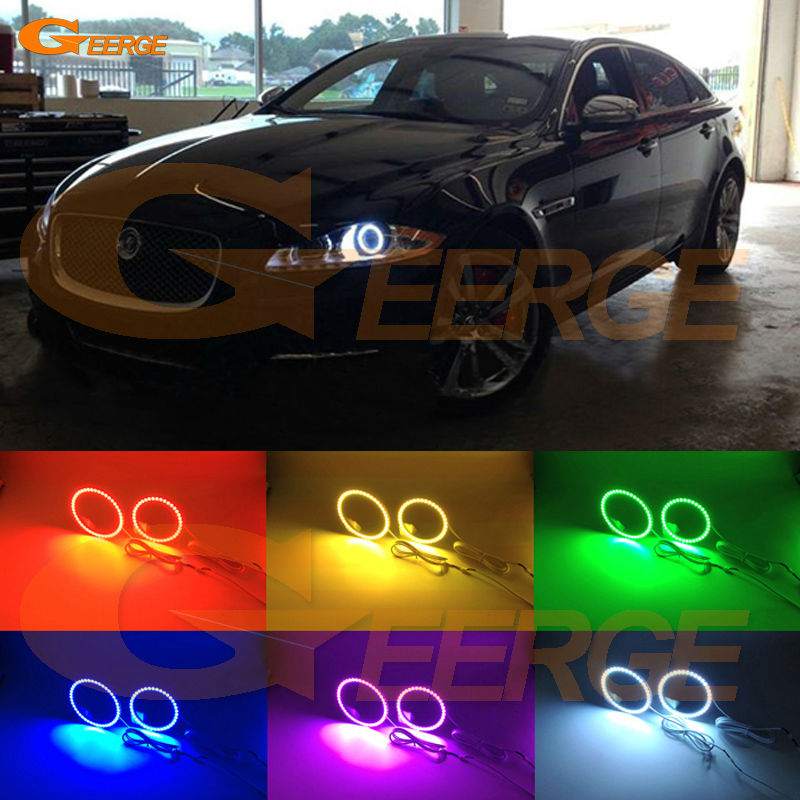 For Jaguar XJ 2011 2012 2013 2014 2015 Excellent Angel Eyes Multi-Color Ultra bright RGB LED Angel Eyes kit for lifan 620 solano 2008 2009 2010 2012 2013 2014 excellent angel eyes multi color ultra bright rgb led angel eyes kit