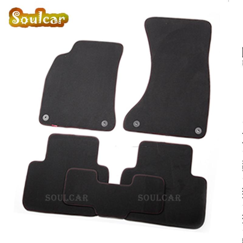 Premium Fabric Nylon Suede Washable Car Floor Mats For Mercedes Benz SL R230 R231 SLK R171 R172 SLS Smart 2004-2017 Carpet Liner
