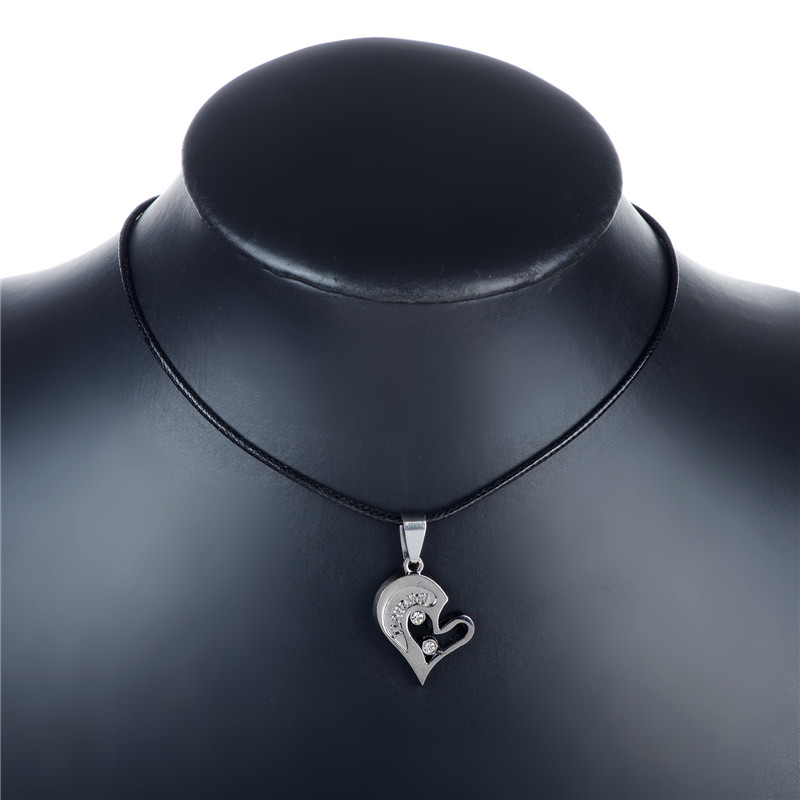 Hot Design I Love You Heart Shape Pendant Necklace Two Parts For Lover Couple Fashion Jewelry In Necklaces From Accessories