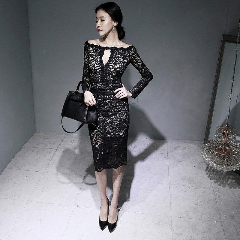 Весна офіс з довгим рукавом з чорним - Жіночий одяг