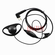 good quality D-shape PTT VOX mic walkie talkie interphone ham two way radio headset CP88 CP100 CP150