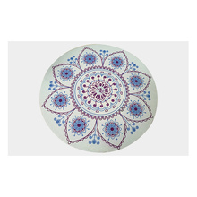 Round Meditation Pad Yoga Mat Cushion Printing Deer Velvet Circular Natural Rubber Exercise