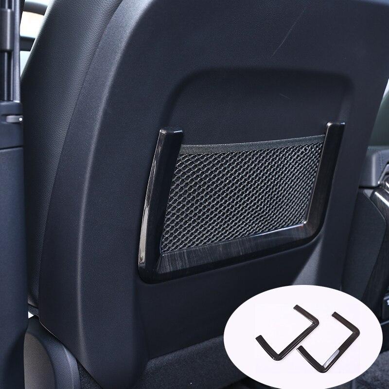 2pcs Dark wood grain Car Seat Storage Net Bag Trim For Land Rover Discovery Sport 15-17 For Range Rover Sport 14-16 Car Styling car styling car trash bin for land rover lr2 lr3 range rover sport defender discovery freelander land rover range rover evoque