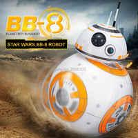 Mejora la bola de BB-8 20,5 cm Star Wars Robot droide RC 2,4G Control remoto BB8 inteligente con sonido Robot de juguete para niños modelo de acción