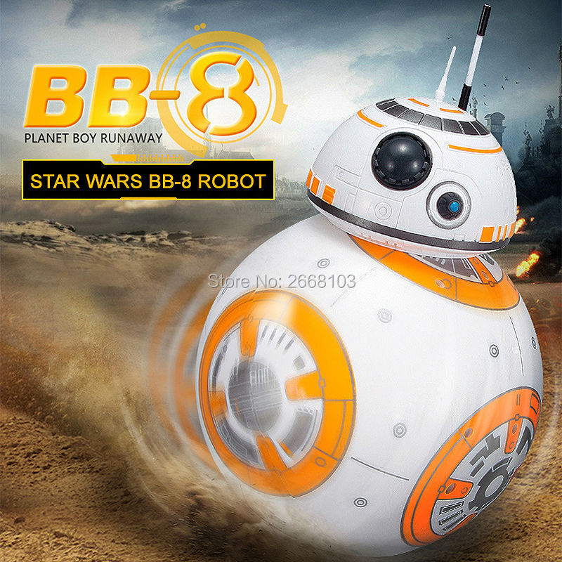 Opgrader BB-8 Ball 20.5cm Star Wars RC Droid Robot 2.4G Fjernbetjening BB8 Intelligent Med Sound Robot Toy For Kids Model Action