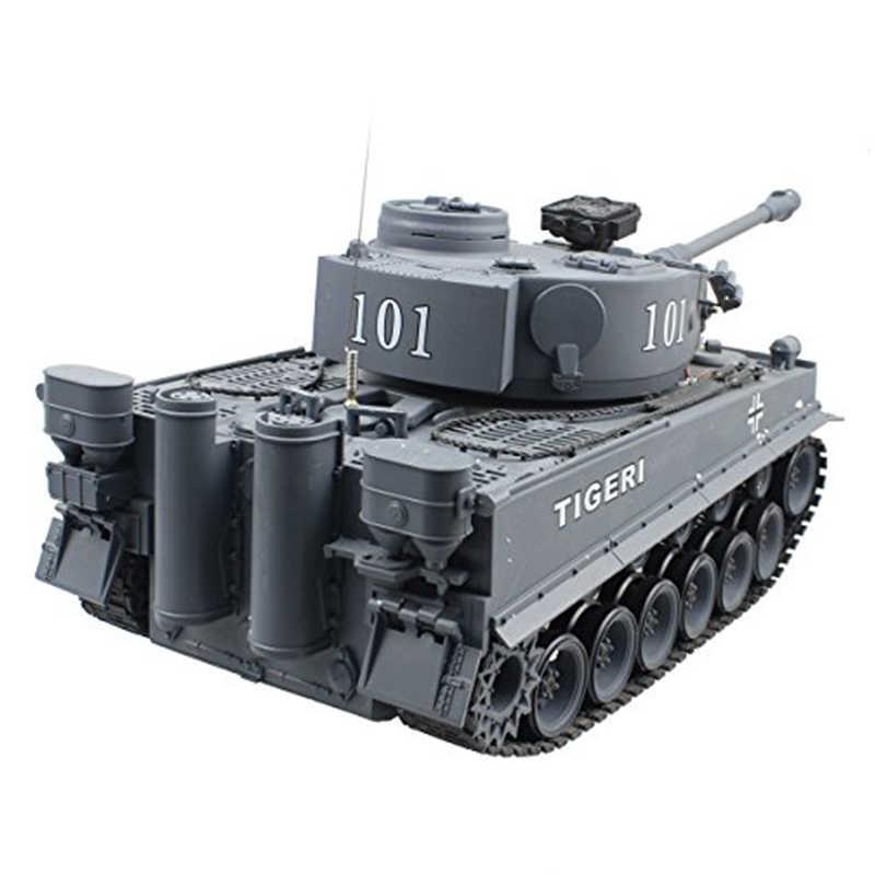 2.4G Air US Bahasa Jerman Tiger 101 Besar Dapat Peluncuran Peluru Militer Truk 1:20 Ukuran Simulasi Tangki Anak-anak ini Model Mainan Hadiah