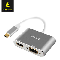 Hagibis USB 3 1 Type C USB C To HDMI Adapter 4K HD 1080P 2 In