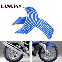 For Honda VTR1000F / FIRESTORM VTX1300 X-11 CB400 HORNET  motorcycle sticker Colorful motor wheel stickers Reflective Rim Strip