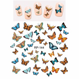 Image 3 - Uprettego Nail Beauty Nail Sticker Water Decal Slider Cartoon Leuke Vlinder Insect RP139 144