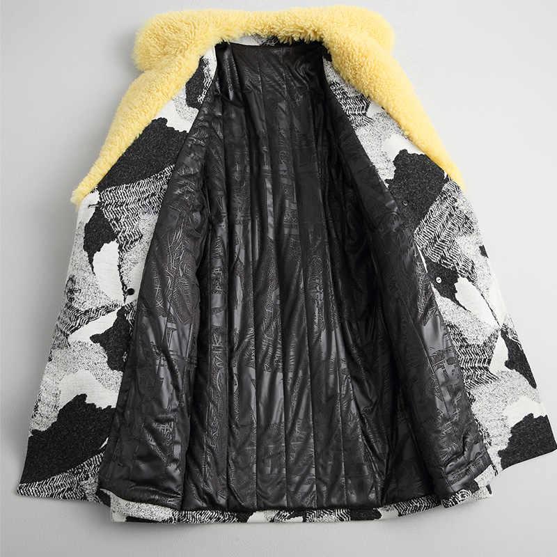 AYUNSUE 2018 корейский стиль теплая осенне-зимняя куртка из шерсти ягнёнка с меховым воротником пальто из хлопка и шерсти женские длинные куртки 18031 WYQ1794