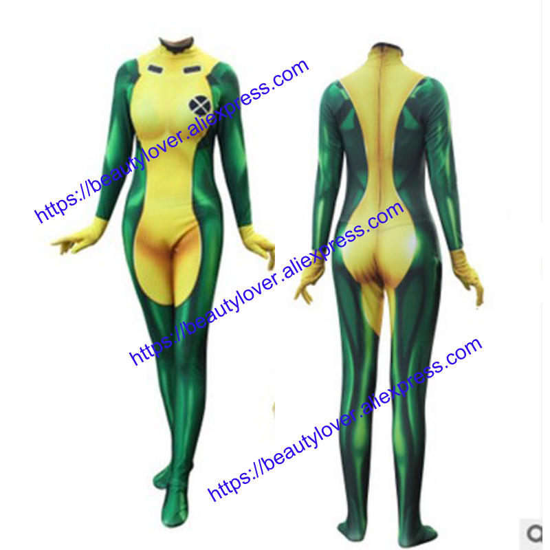 beauty lover X-Men Rogue Cosplay Costumes
