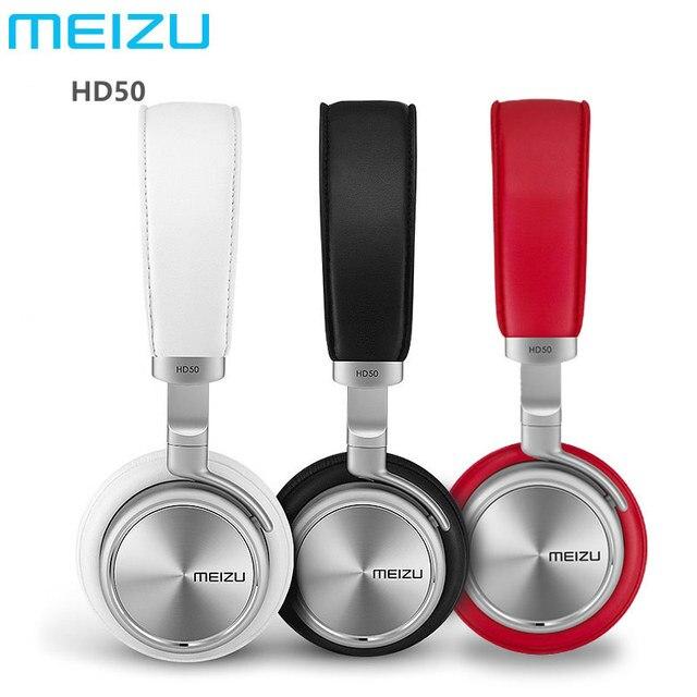 Оригинальный Meizu HD50 Наушники HIFI Стерео Металлические наушники проводная Гарнитура С Микрофоном Для Мобильных телефонов