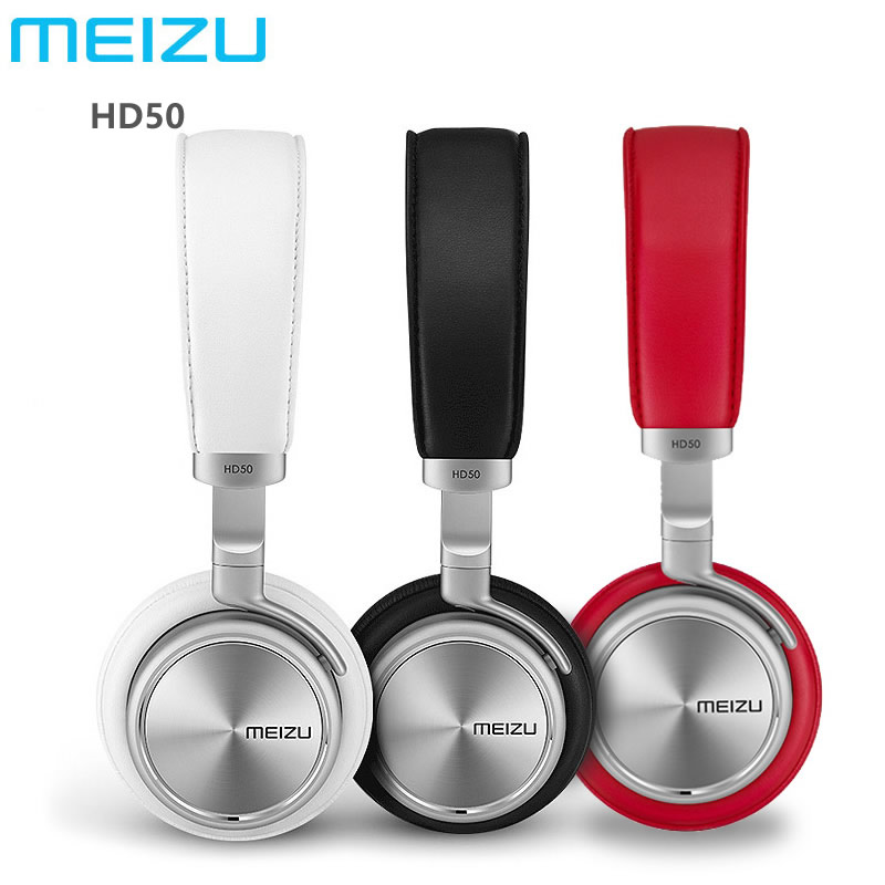 Original Meizu HD50 Headphone HIFI Stereo Metal earphone wired Headset With Microphone For Mobile phones