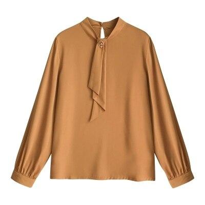2019 printemps automne 4XL chemise dames Blouse femmes offre spéciale Plus les tailles Blouse chemises Blouse décontractée manches longues bureau haut - 6