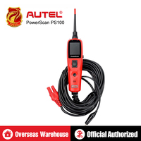 Autel Powerscan PS100 Automotive Tool Tester Electrical OBD2 Scanner Car Auto Circuit Tester 12 24V Vehicle Electrical System