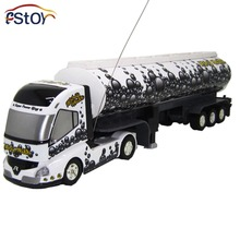 RC Truck US Truck Long Radio Control emulation sound Trailer Automatic Detachable tank truck Model electronic