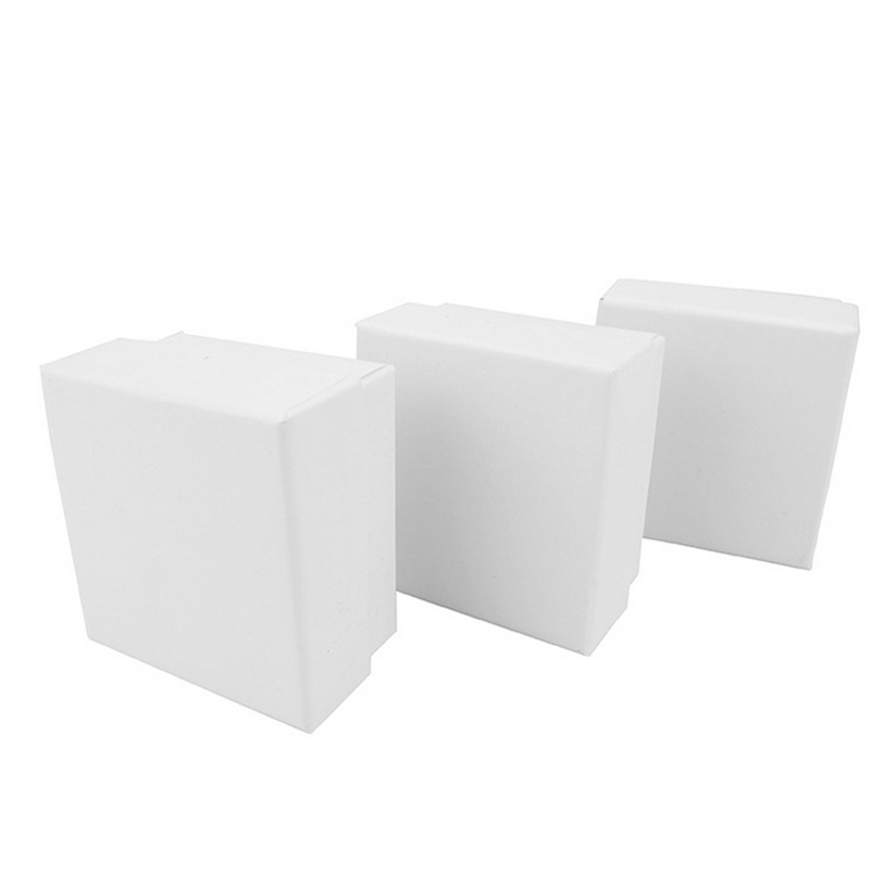 2017 New 50 PCS box 5x5x3cm white color Kraft paper box For earring ring bracelet necklace jewelry box A28 in Jewelry Packaging Display from Jewelry Accessories