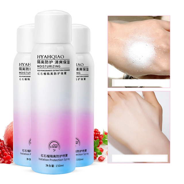 TikTok 150g Red Pomegranate Whitening Sunscreen Spray SPF50++ Body Moisturizin Isolation Ultraviolet light UV Pregnant Available