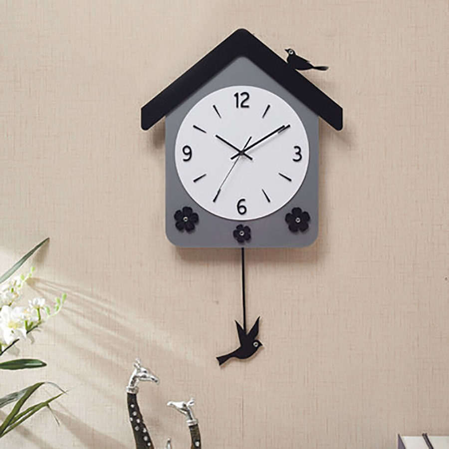 European Swing Wall Clock Modern Design Digital Mechanism Large Decorative Uvar Saati Wall Clocks Nordic Design 50Q320 in Wall Clocks from Home Garden
