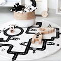 Baby Road Track Climb Play Mats Toy Kids Toddler Blanket Cover Girls Developing INS Carpet tapis lapin conejo Cushion