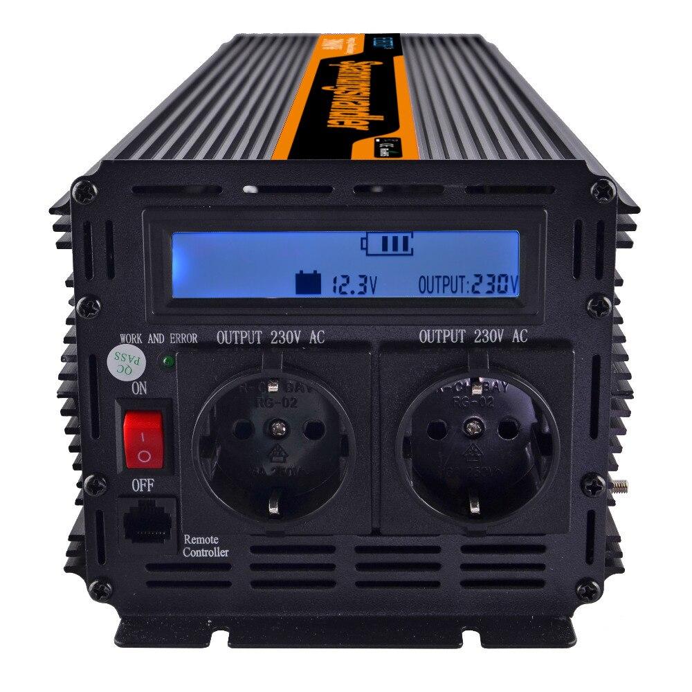 power inverter modified sine wave 3000W AC 220V 230V 240V DC 12V LCD display and remote