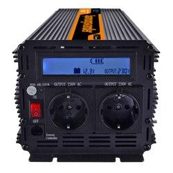 Power inverter onda sinusoidale modificata 3000 W AC 220 V 230 V 240 V DC 12 V, display LCD e telecomando