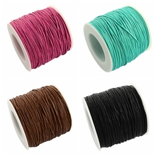 Jewelry Accessories - Jewelry Findings  - Waxed Polyester Cords, Black, 1mm; About 84m/roll