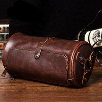 COOL Crazy Horse PU Leather Moto Biker Men And Women Bag Vintage Unisex Shoulder Messenger Bags